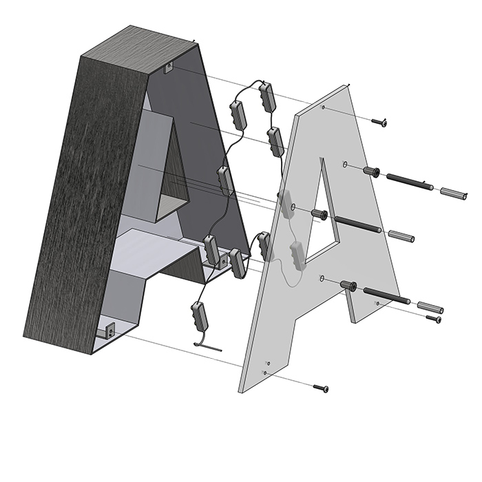 Halo Lit Construction